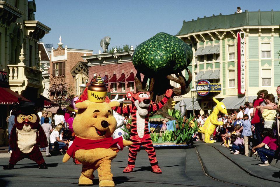 Winnie the Pooh Characters at Disneyland