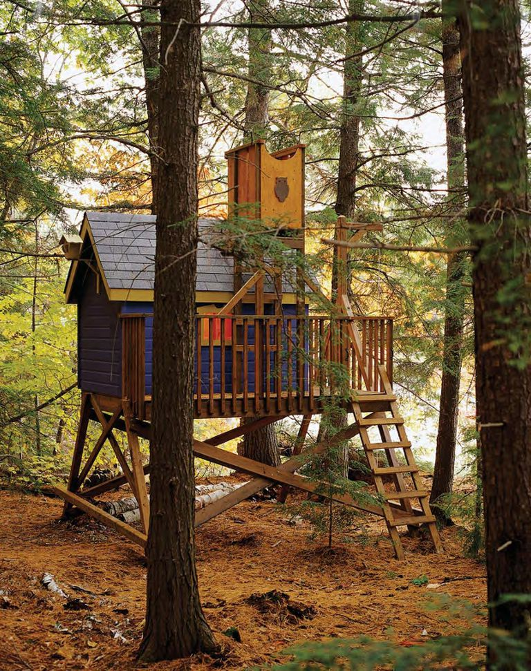 deluxe tree house plan from the wood plans shop