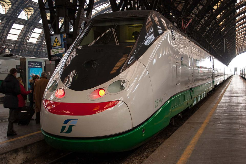 A fast train in Italy