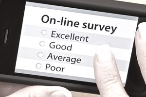 On-line survey with mobile phone