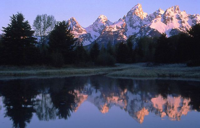 Teton Range Reflection at Schwabachers Landing