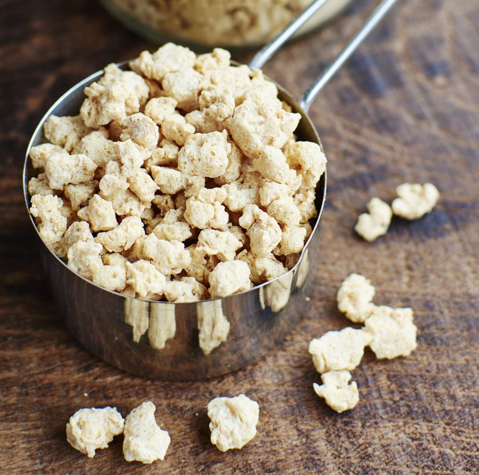 TVP or TSP, textured vegetable protein