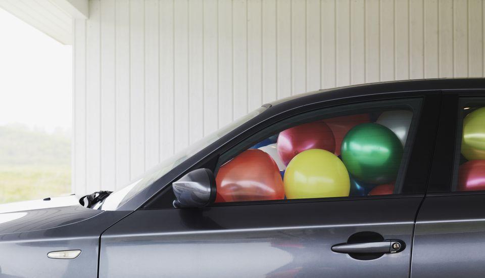 Car full of balloons