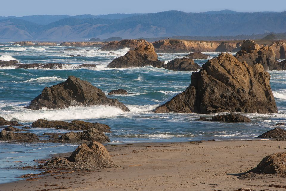 Mendocino Coast at Glass Beach