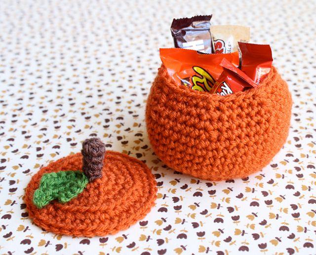 Crochet Pumpkin Bowl