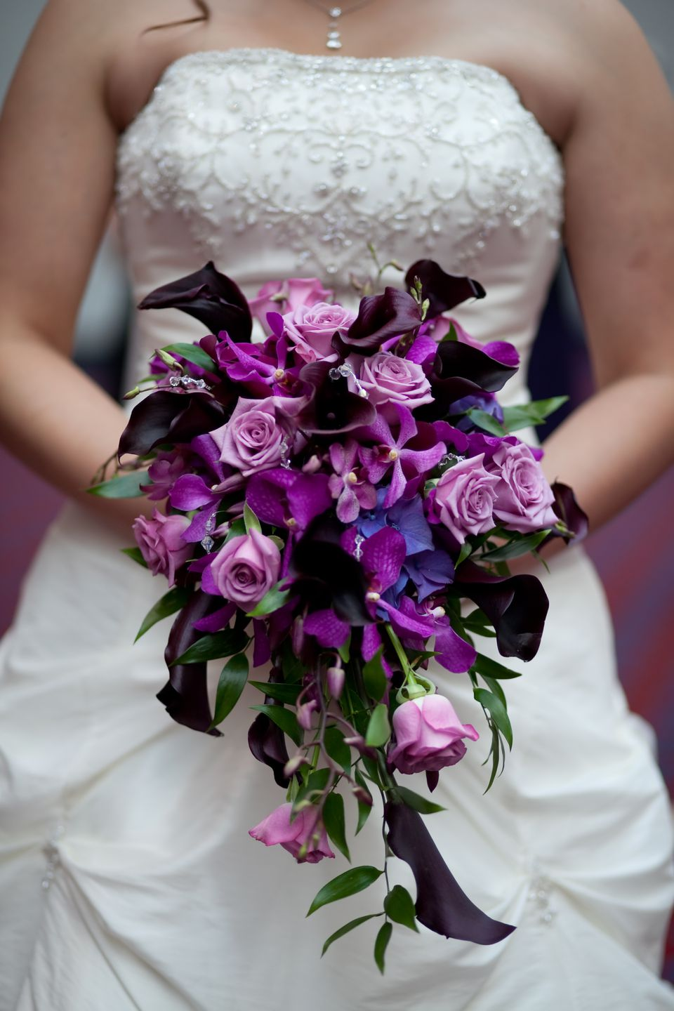 spring flowers wedding purple bridal bouquet 7629