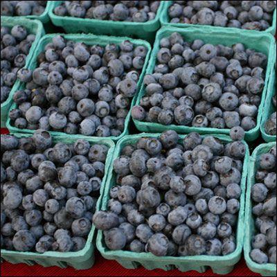 Blueberries at the La Grande Farmers Market.