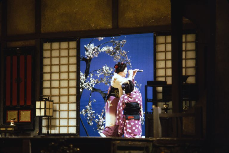 A scene from Puccini's opera 'Madame Butterfly' at the Metropolitan Opera, New York. (1983)