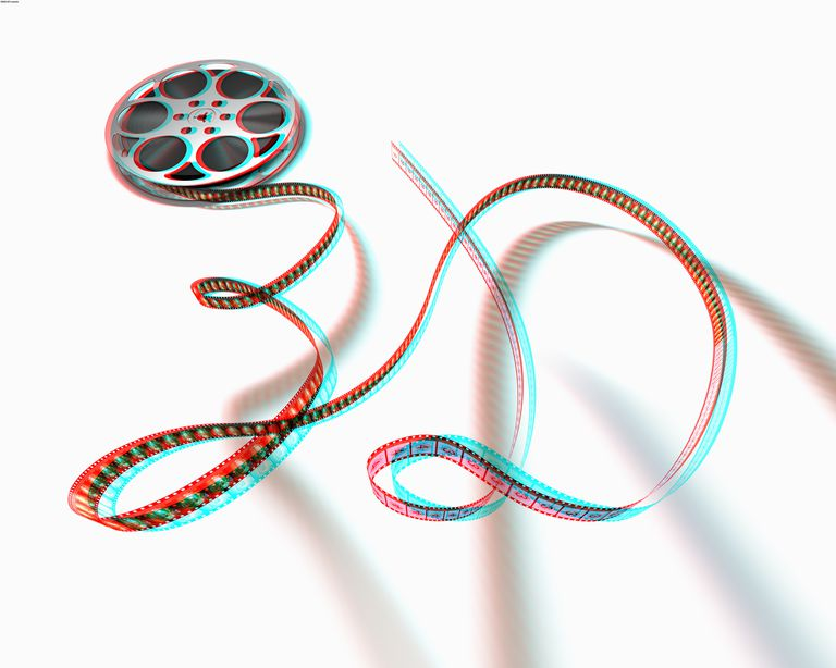 Film Spool with Motion Picture in 3D