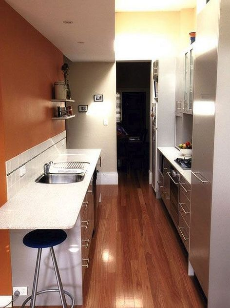 Ways To Open Small Kitchens Space Saving Ideas From Ikea: Fantastic Space-Saving Galley Kitchen Ideas