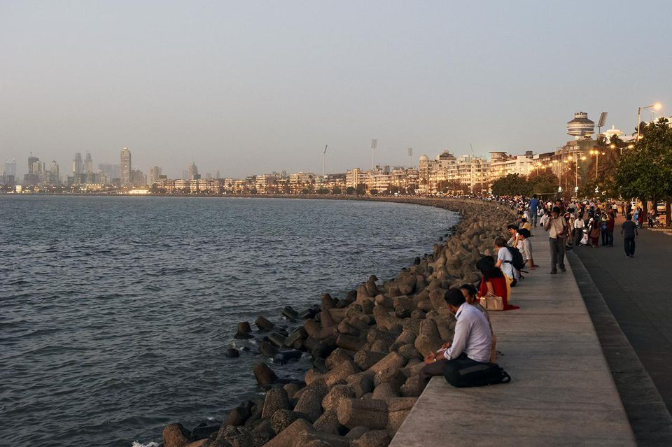India, Maharashtra state, Mumbai, Bombay, Marine Drive