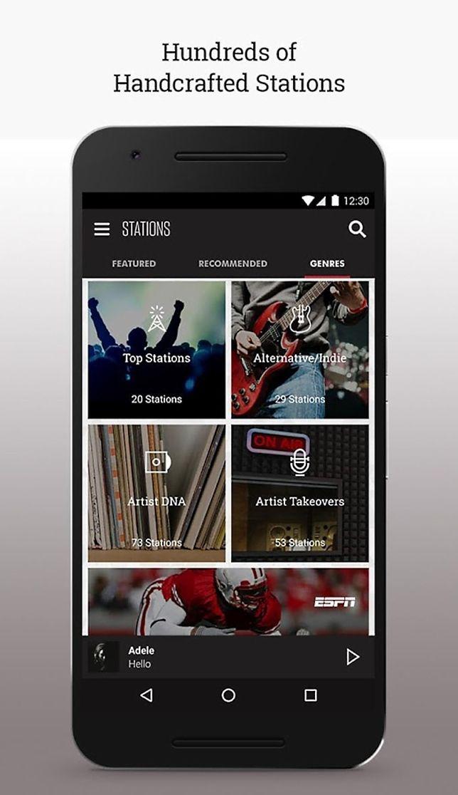 Slacker Radio app for Android