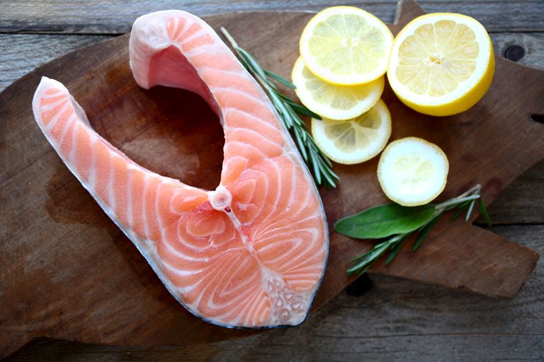 Salmon is high in omega-3 fatty acid.