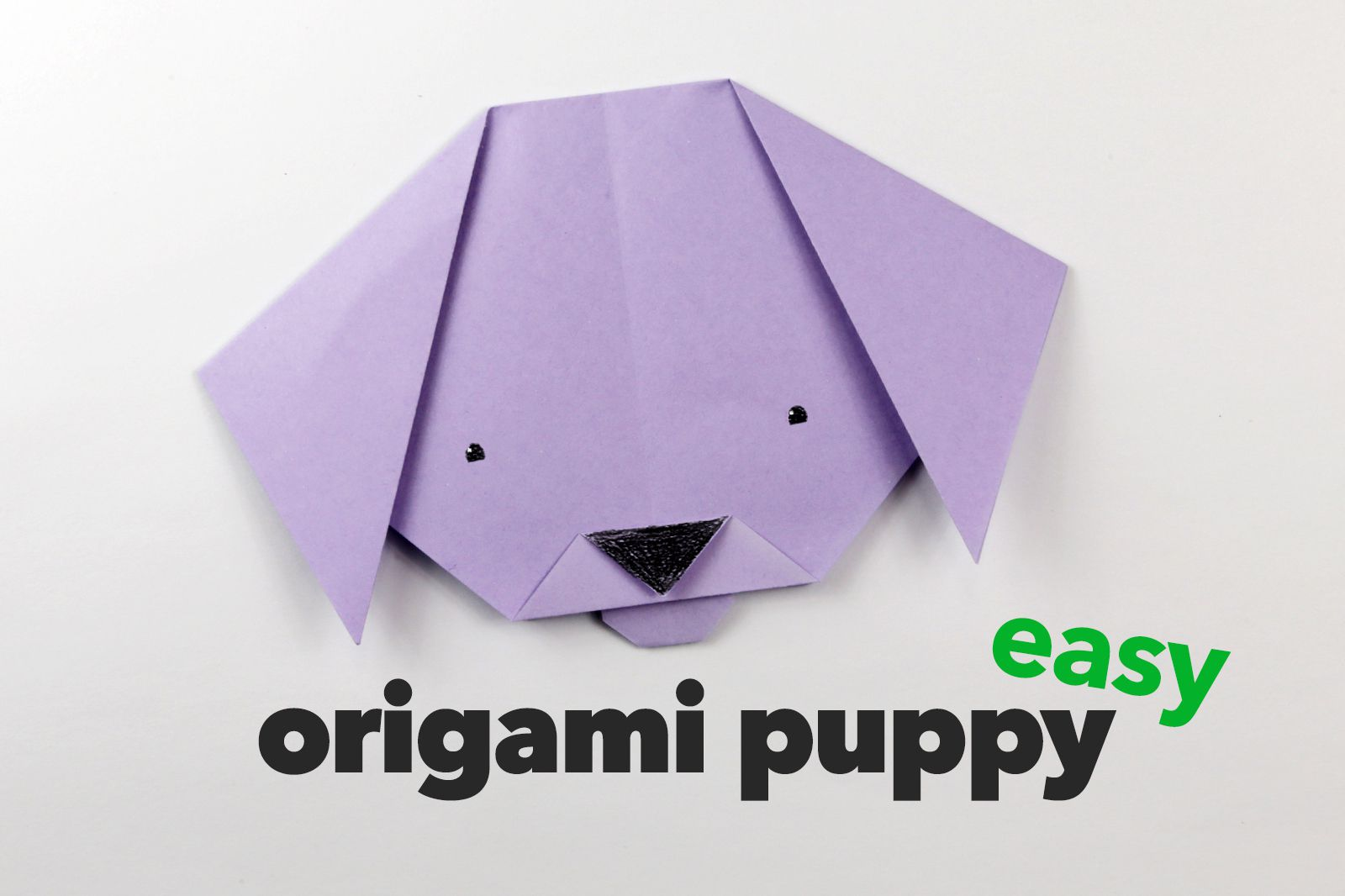 Easy origami puppy face instructions jeuxipadfo Gallery