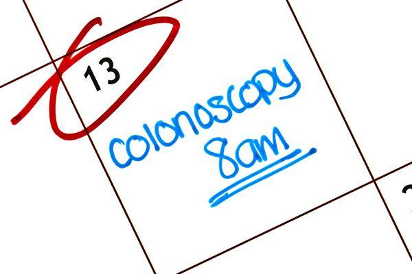 A colonoscopy calendar reminder.