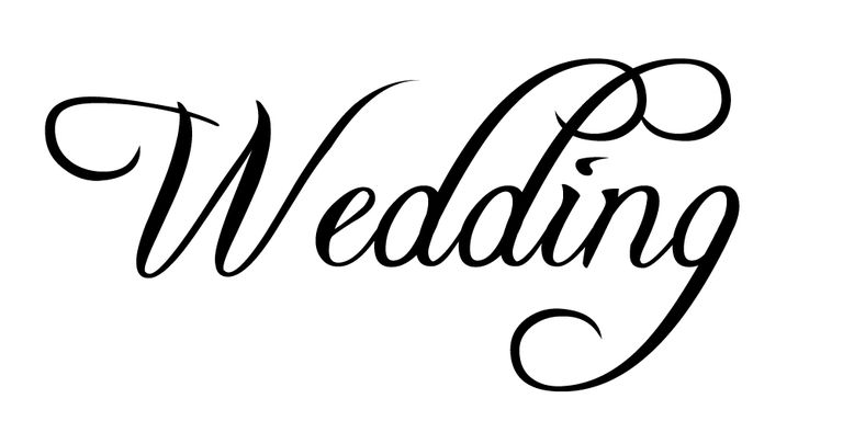 The Word Wedding In Free Font Freebooter Script