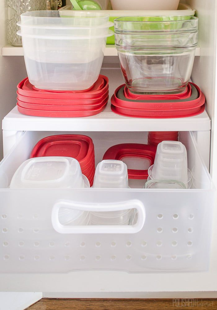 STore Food Containers in a Drawer