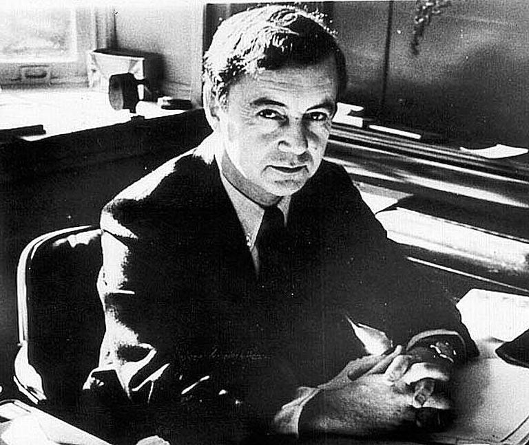 Erving Goffman, famed Canadian-American sociologist, pictured at his desk. Learn about his life and work here.