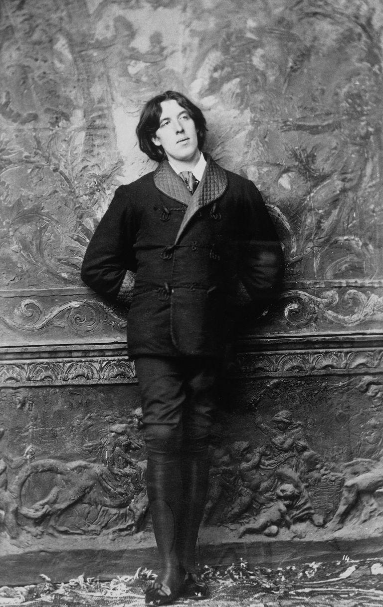 Oscar Wilde (1854-1900) in New York in January 1882
