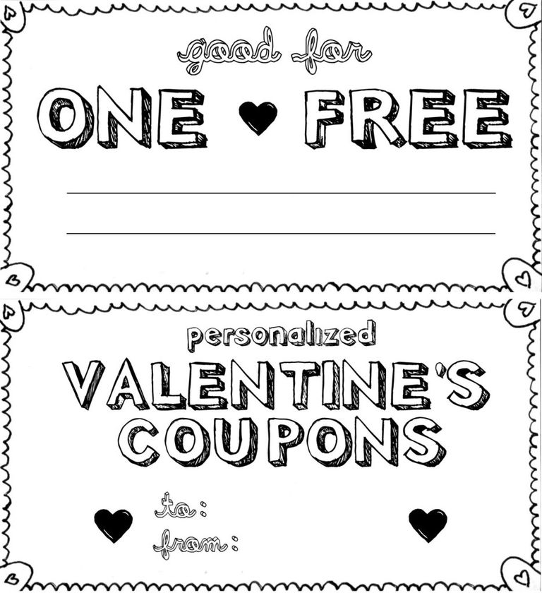 Free printable love coupons and coupon templates for Coupon book template for husband
