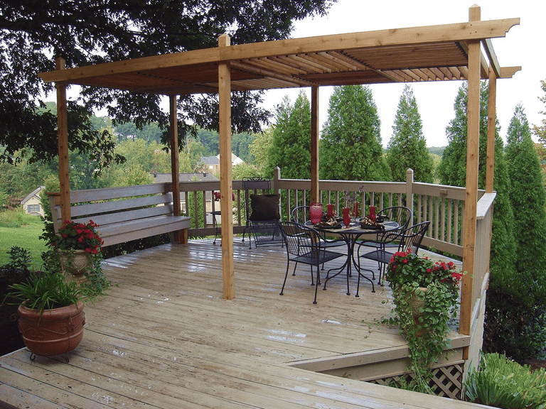 Pergola Plan with Adjustable Roof Panels from HGTV