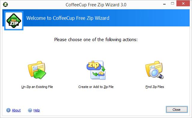 Screenshot of Free Zip Wizard v3.0