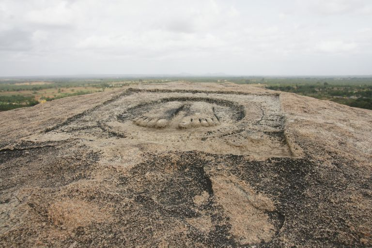 Monument of Chandragupta's Footprints.