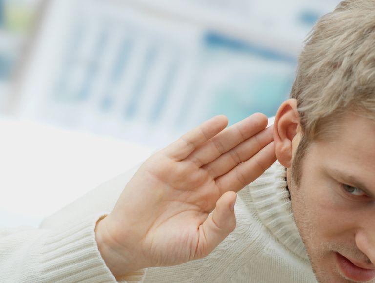 Man Straining to Hear