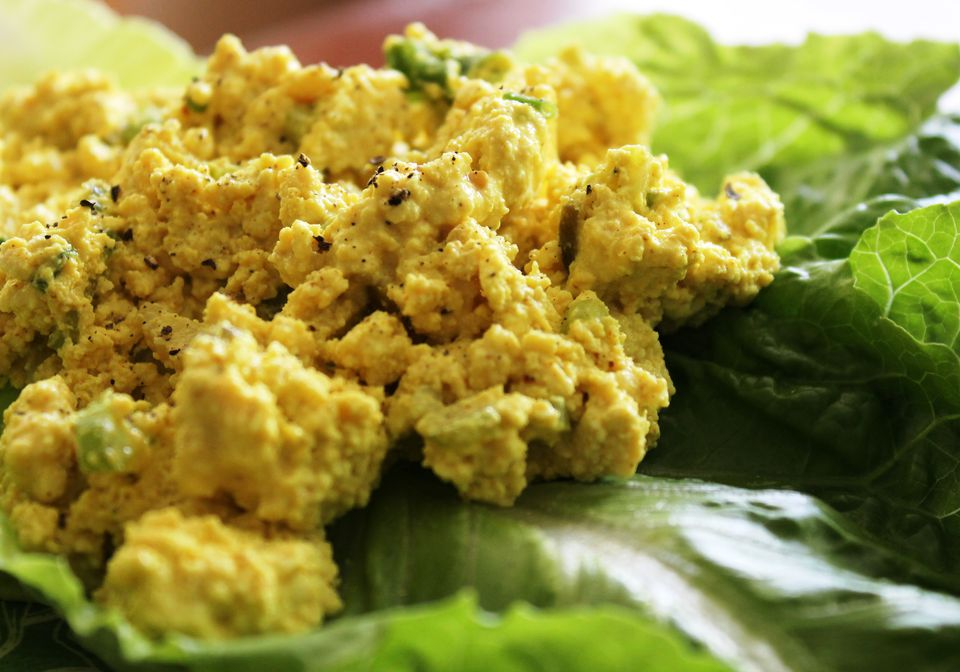 Tofu egg salad - vegan and gluten-free and delicious!
