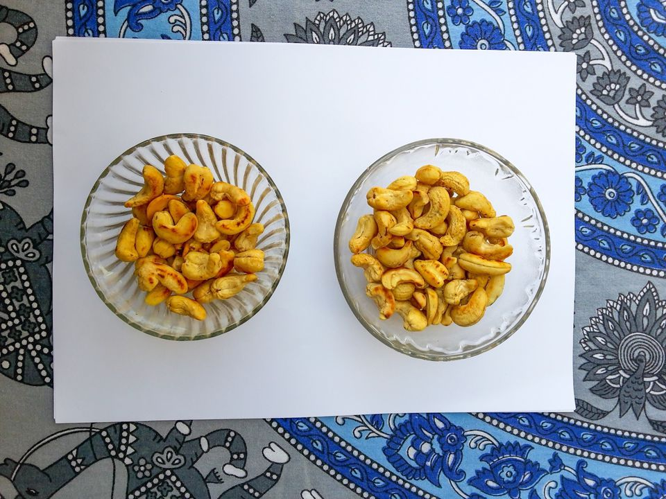 cashews in bowls on a table