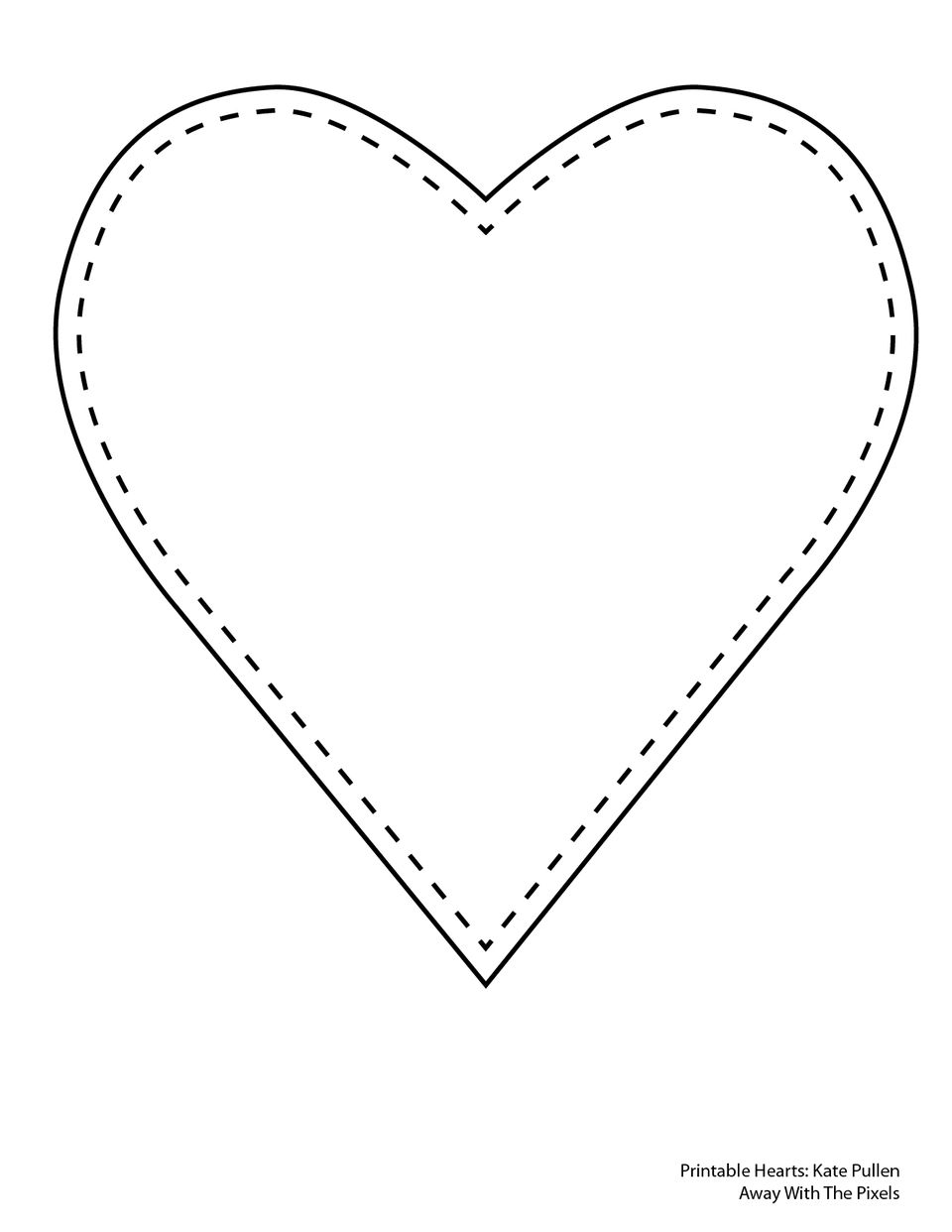 6 free printable heart templates for Heart template for sewing