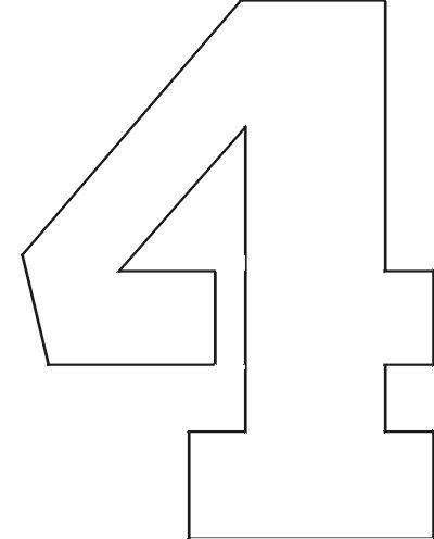 Unusual image in free printable 4 inch number stencils