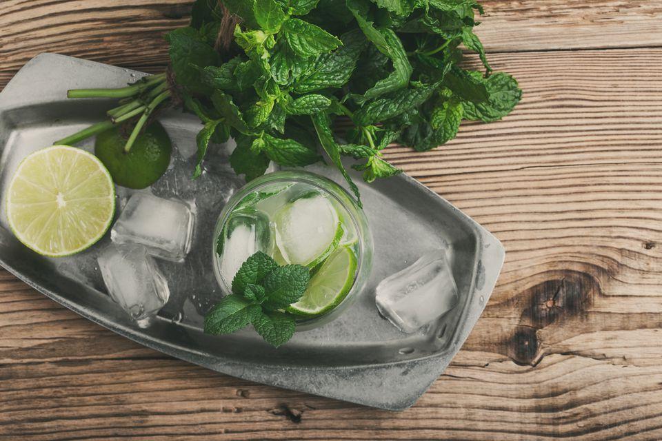 Refreshing summer drink mojito
