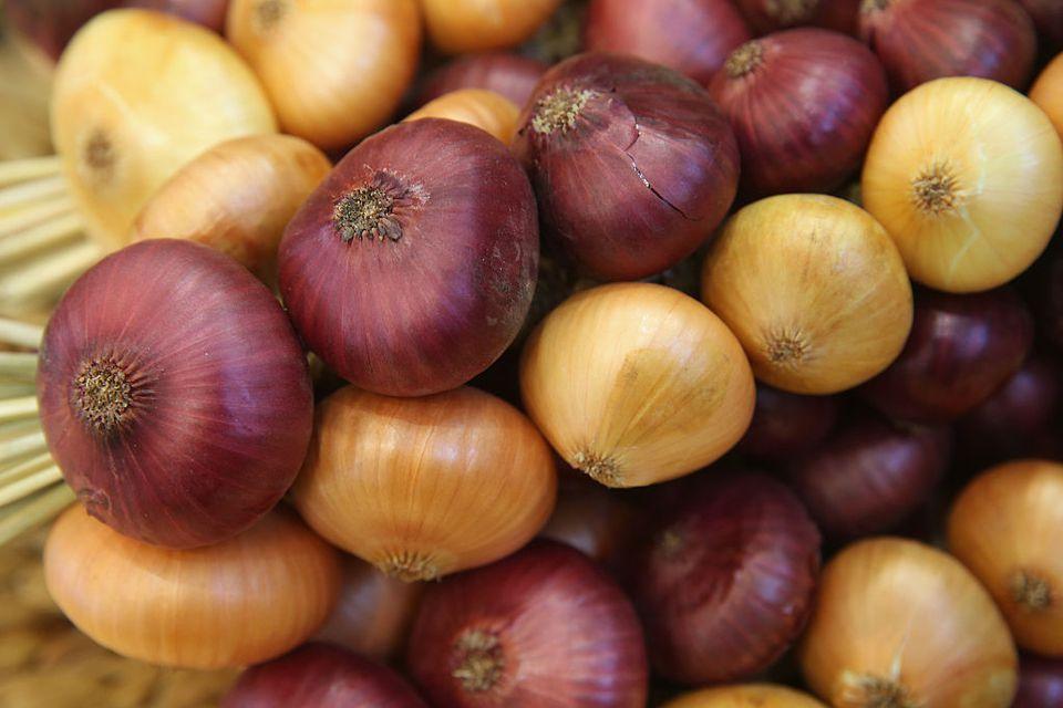 multi colored onions