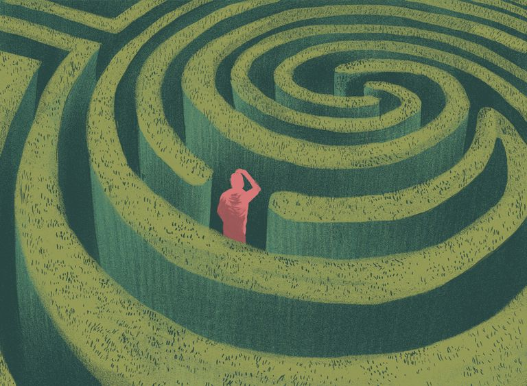 Image of a man in a maze