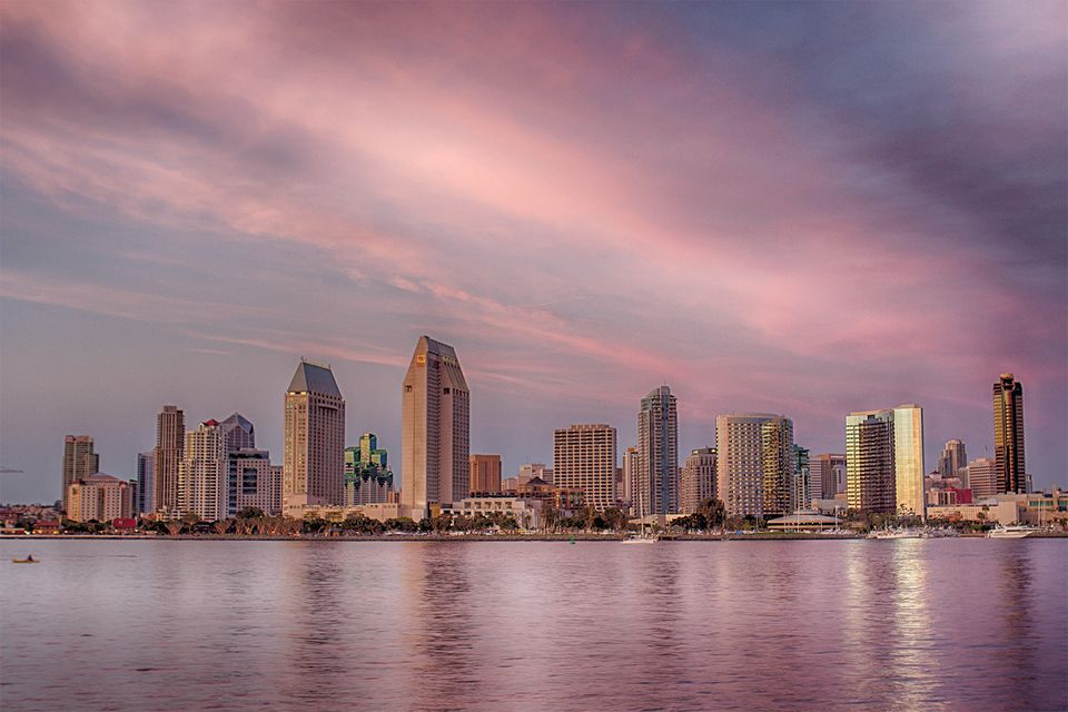 Twilight in Downtown San Diego