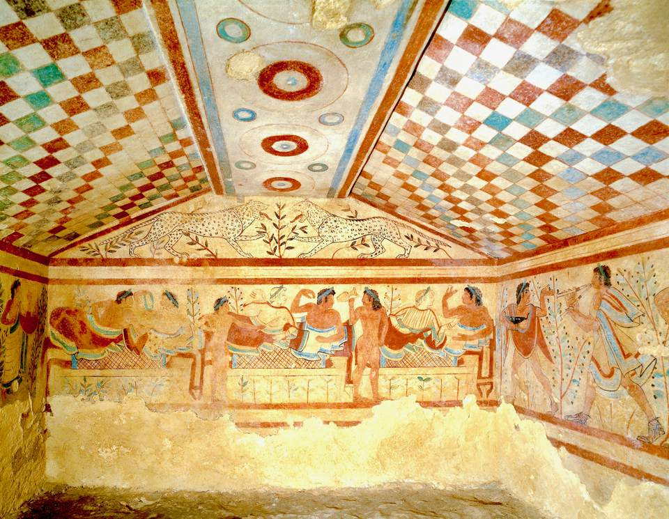 Most famous Etruscan tomb in Tarquina
