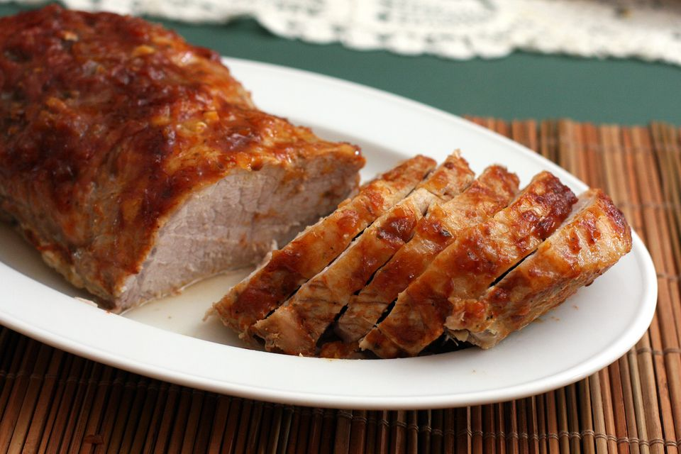 pork loin with barbecue sauce