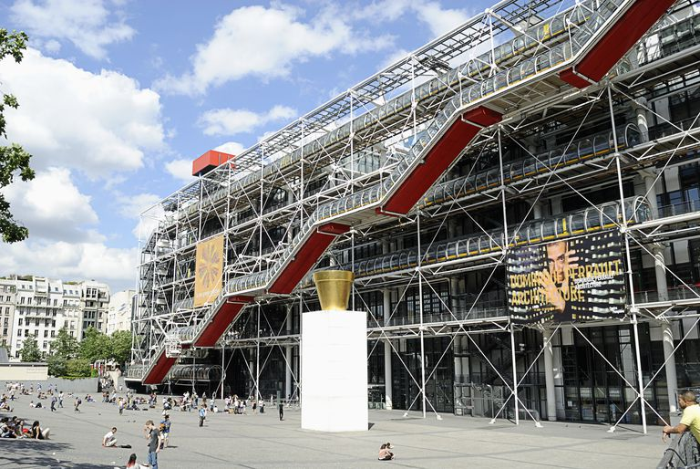 Renzo Piano and Richard Rogers Designed the Pompidou center, Paris, France