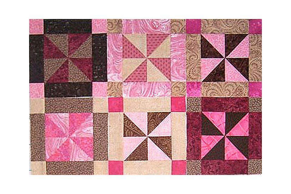 Easy Framed Pinwheel Quilt Block Pattern
