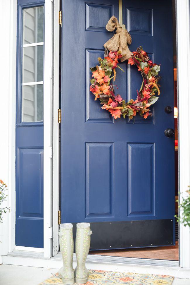 DIY Fall Leaves Wreath