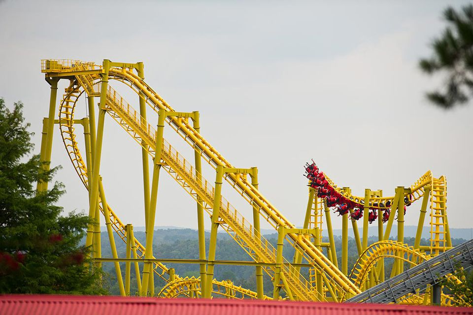 Gauntlet coaster at Magic Springs amusement park