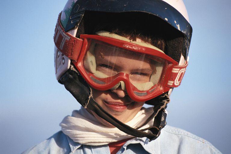 clear ski goggles
