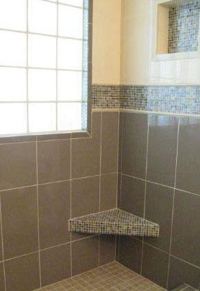 mosaic tile shower
