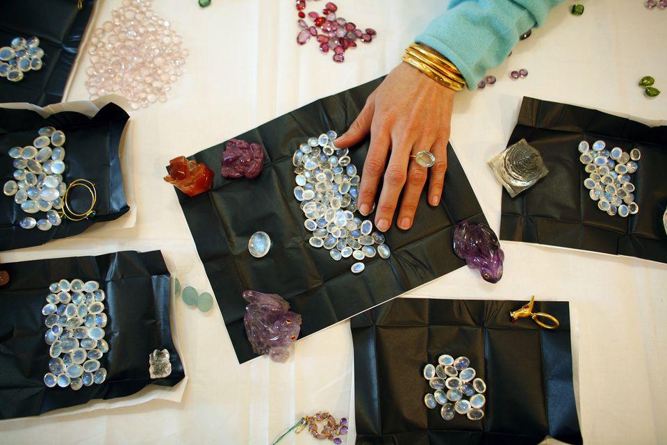 Buying gemstones in India.