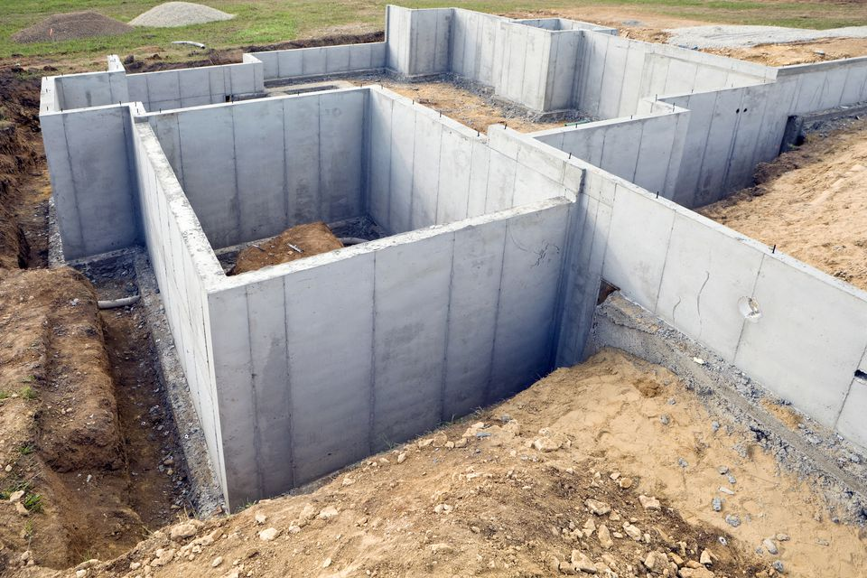 Types of house foundations for Basement foundations construction