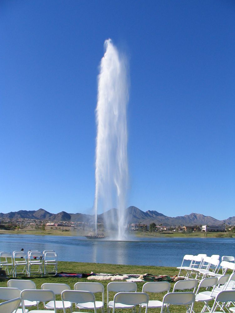 Setting up for a wedding in Fountain Hills