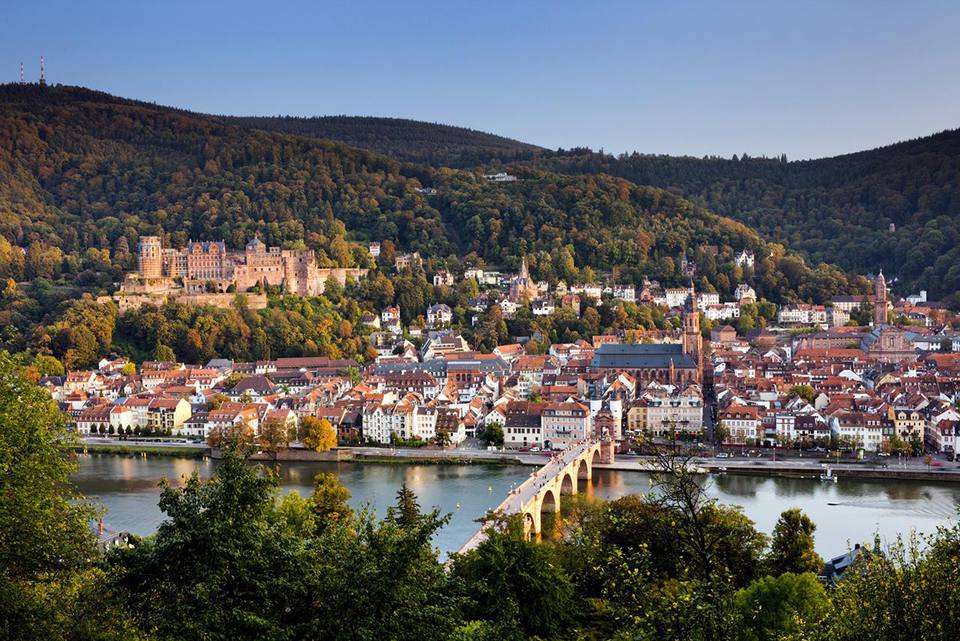 Heidelberg at sunset