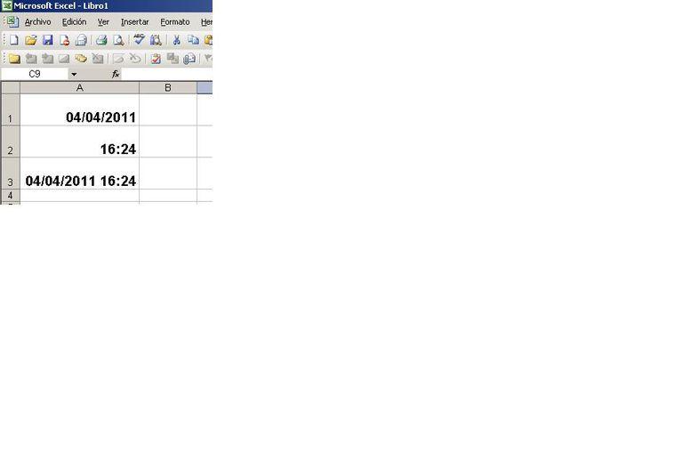 Fórmulas Excel fecha y hora