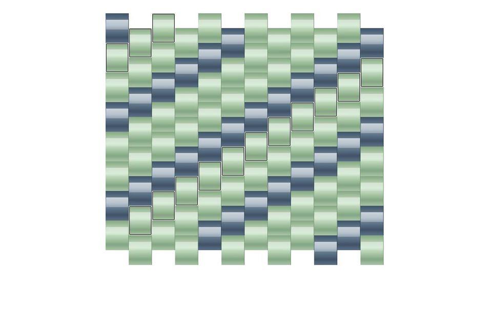 even count tubular peyote pattern